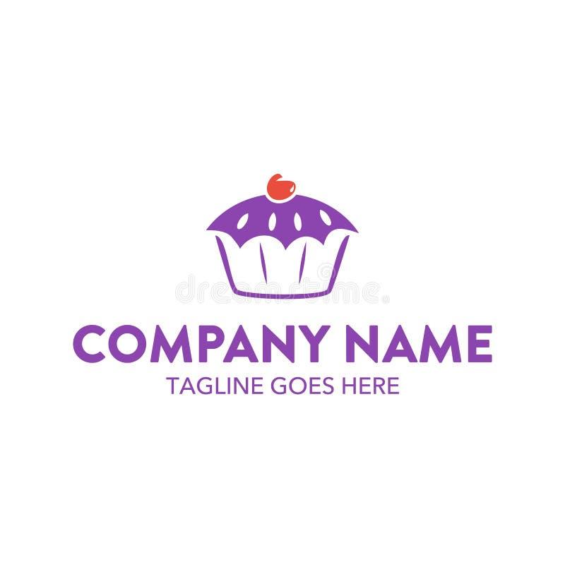 Calibre unique de logo de gâteau et de biscuits Vecteur editable illustration libre de droits