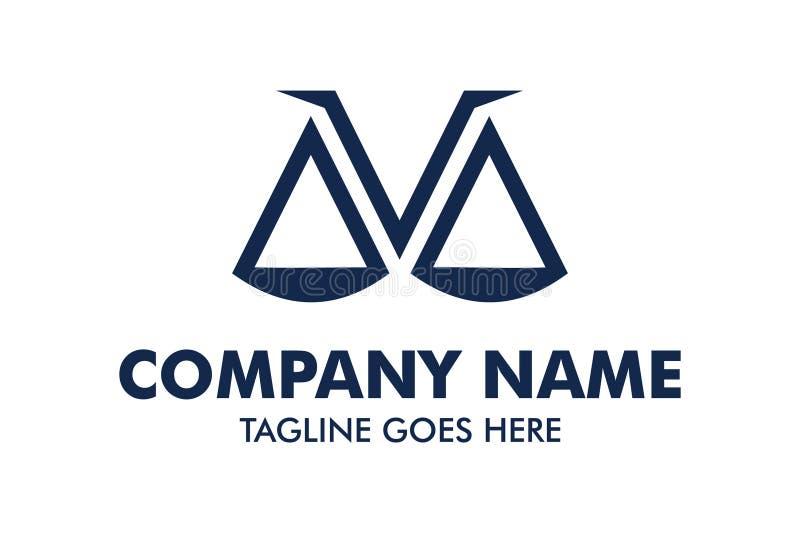 Calibre unique de logo de mandataire et de loi illustration stock