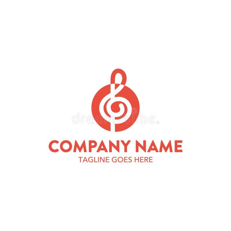 Calibre unique de logo de musique Vecteur editable illustration libre de droits