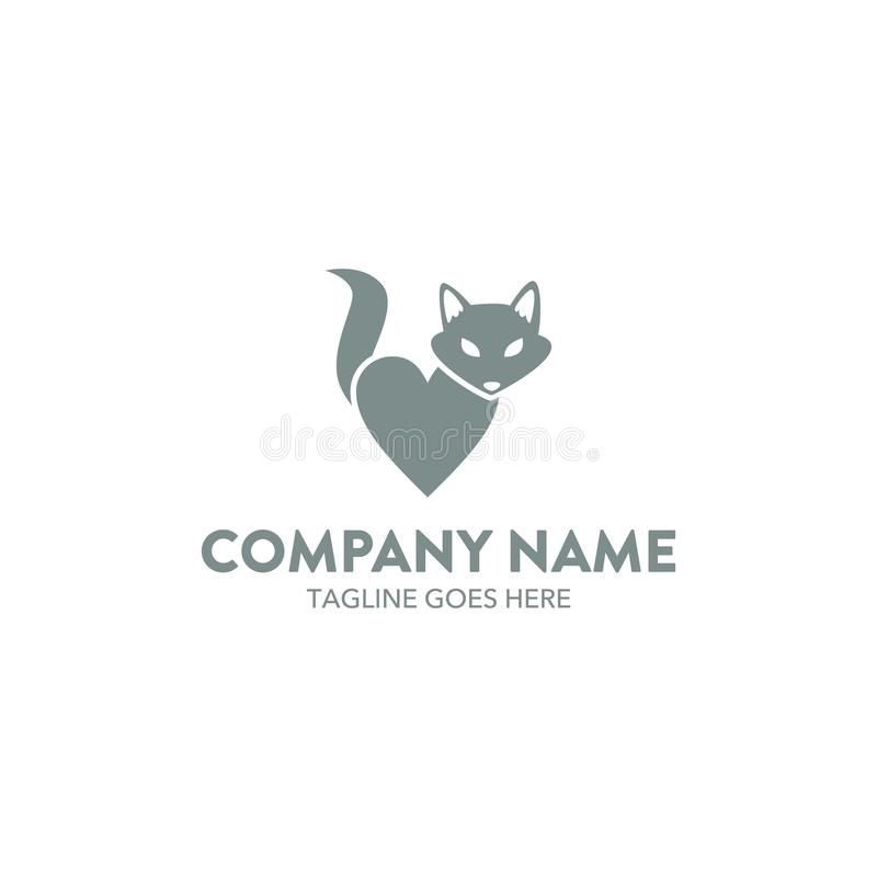 Calibre unique de logo de renard Vecteur editable illustration de vecteur