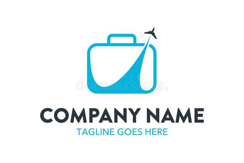 Calibre unique de logo de voyage et d'hôtel Vecteur editable illustration libre de droits