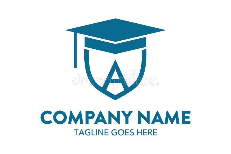 Calibre unique et original de logo d'éducation illustration stock