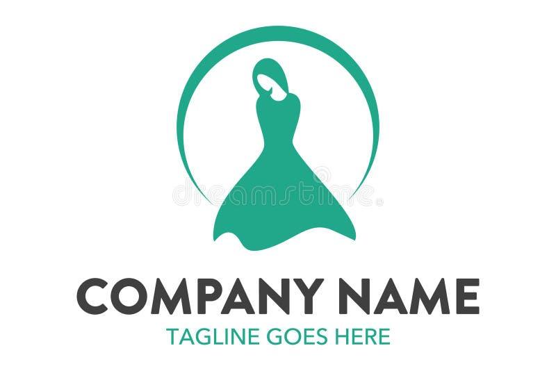 Calibre unique et original de logo de mode et de boutique illustration stock