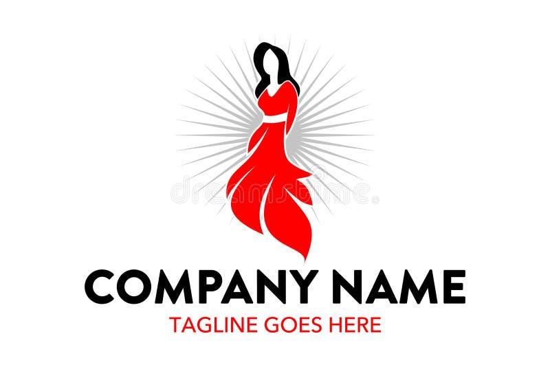 Calibre unique et original de logo de mode et de boutique illustration libre de droits