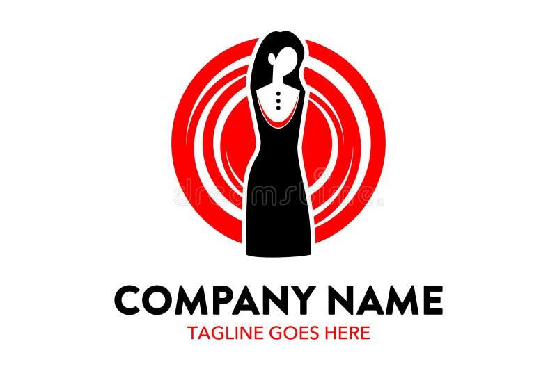Calibre unique et original de logo de mode et de boutique illustration de vecteur