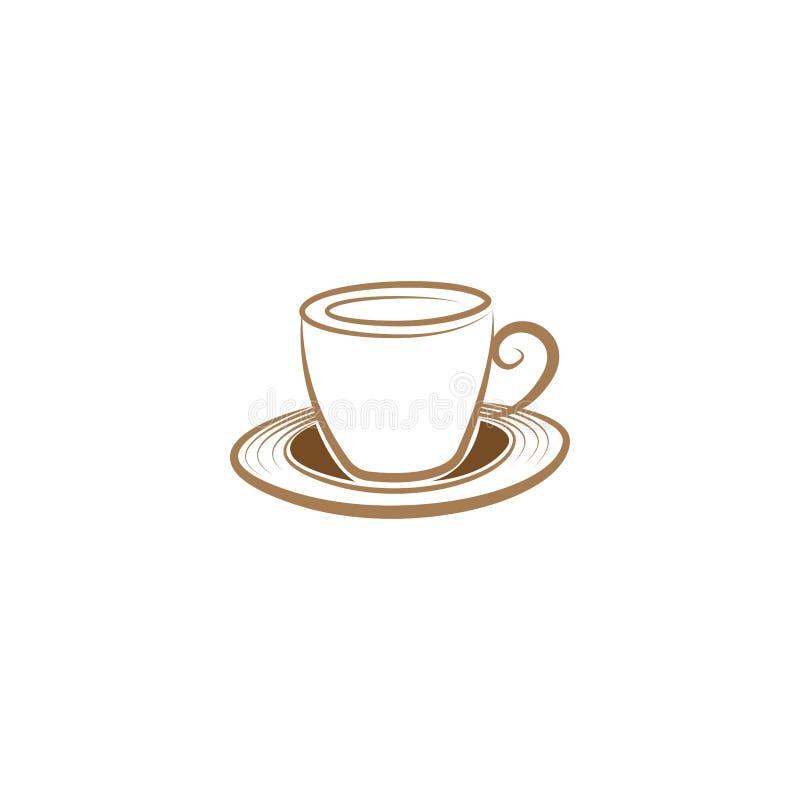 Calibre unique simple de vecteur de conception de logo d'emblème de tasse de café Calibre de conception d'illustration de logo de illustration de vecteur