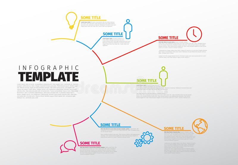 Calibre universel d'Infographic de vecteur illustration stock