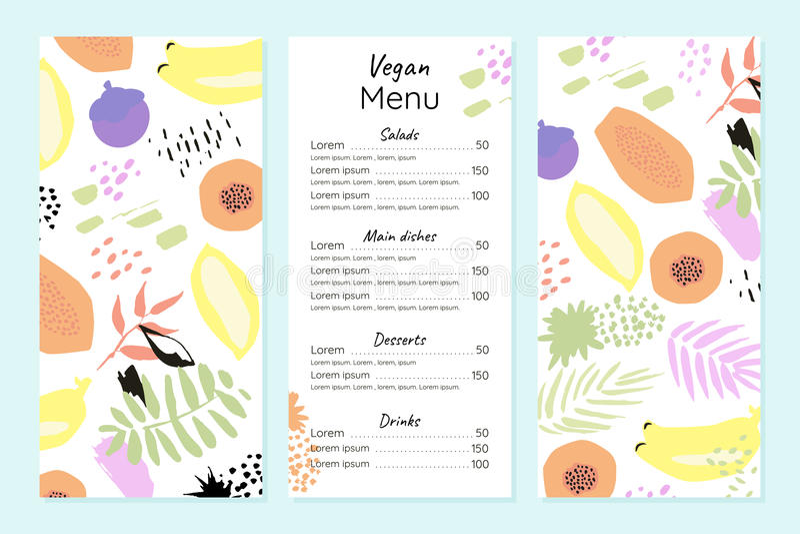 Calibre végétarien abstrait de menu illustration libre de droits