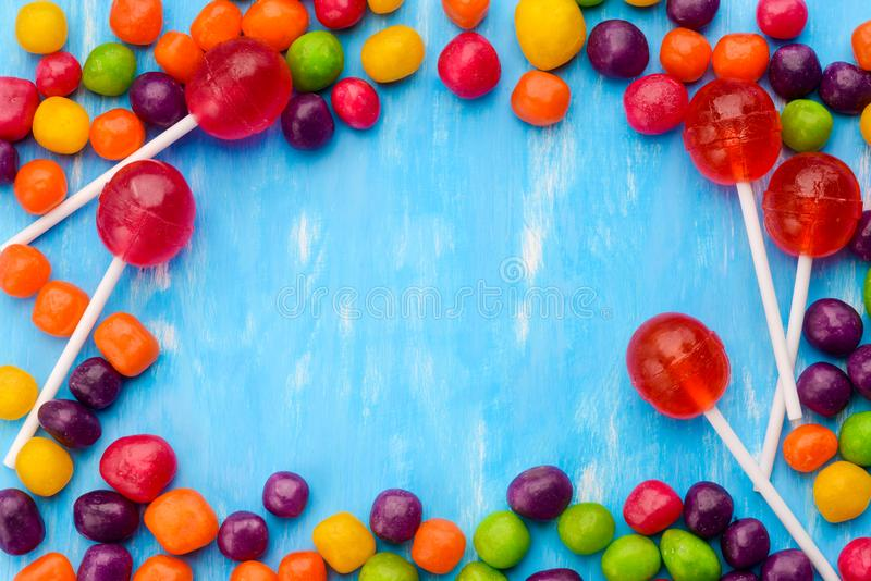 Calibre Varicolored de carte de sucreries images libres de droits