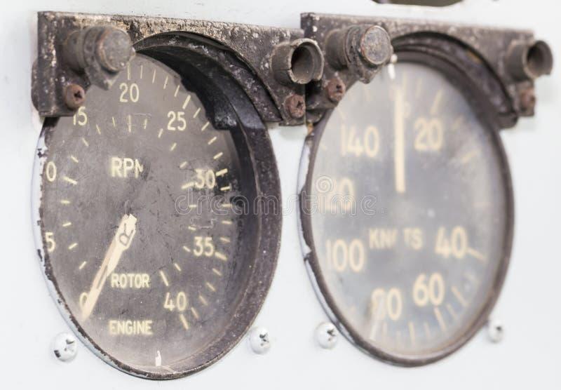 Calibre velho do helicóptero imagem de stock