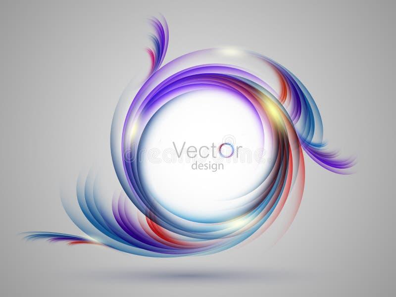 Calibre vertical coloré de vecteur avec des remous illustration de vecteur