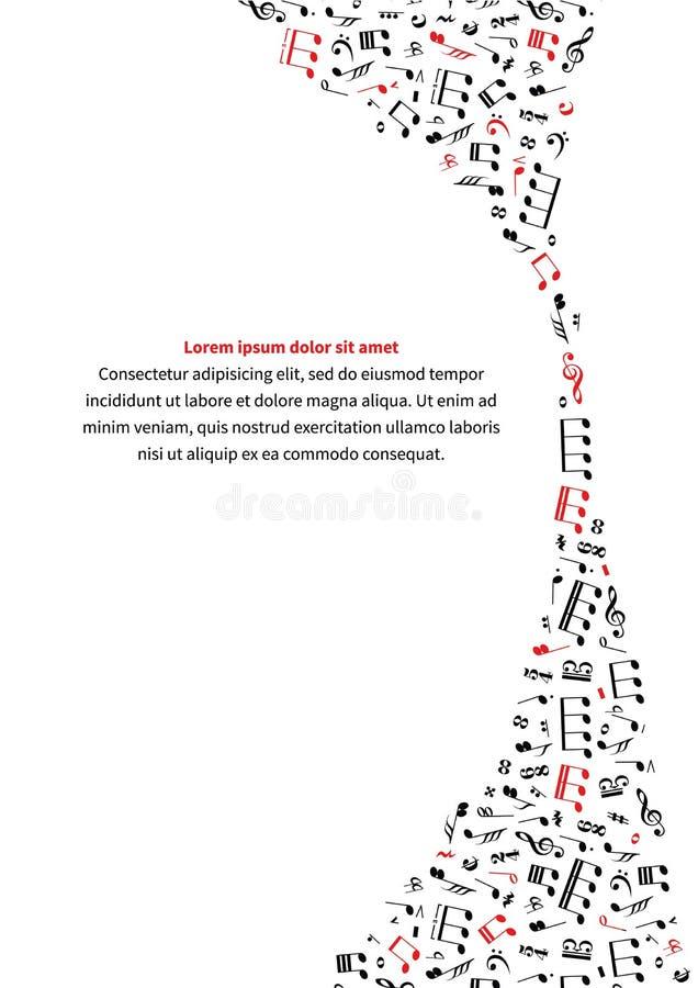 Calibre vertical de fond de musique illustration stock