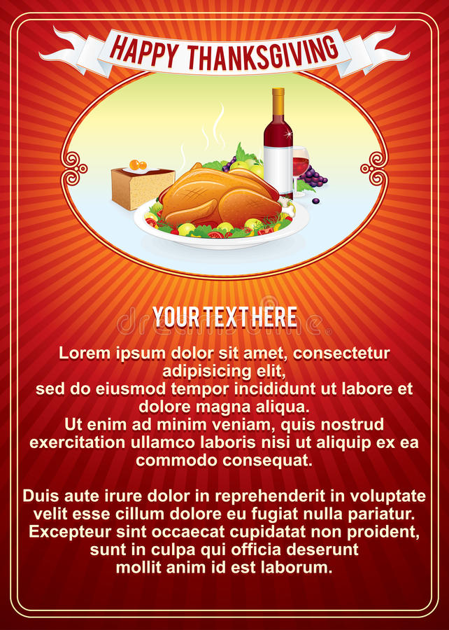 Calibre vertical de fond de thanksgiving. Vecteur illustration stock