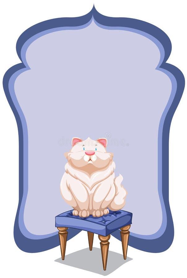 Calibre vide au fond d'un chat illustration libre de droits