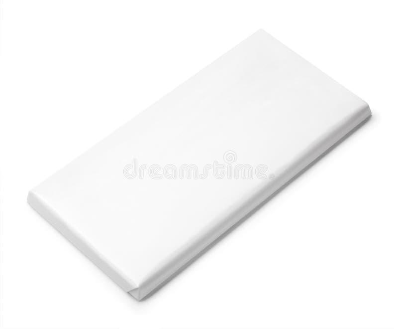 Calibre vide blanc de paquet de barre de chocolat photos stock