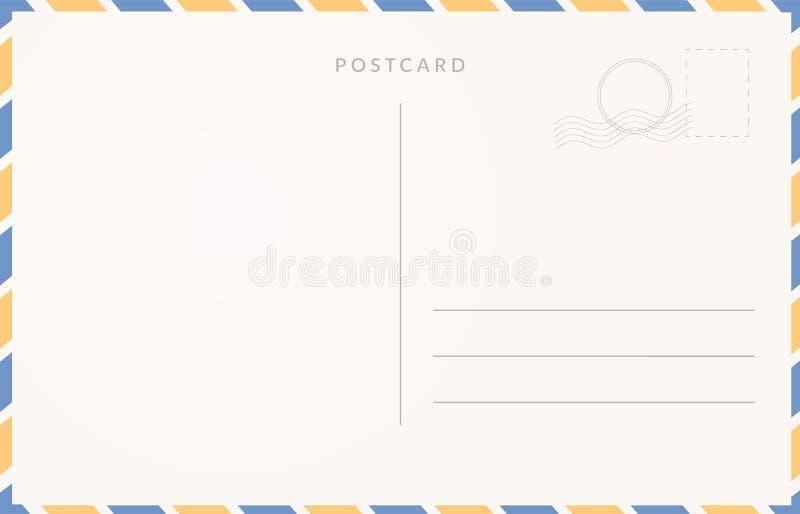 Calibre vide de carte postale Design de carte de voyage de Moder illustration de vecteur