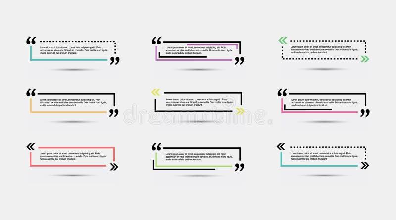 Calibre vide de citation illustration stock