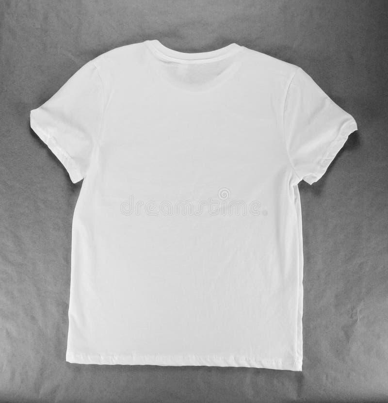 Calibre vide de conception du T-shirt d'hommes blancs images libres de droits