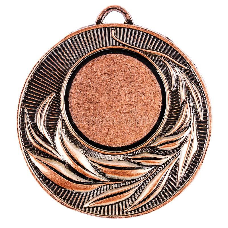 Calibre vide de médaille de bronze image stock
