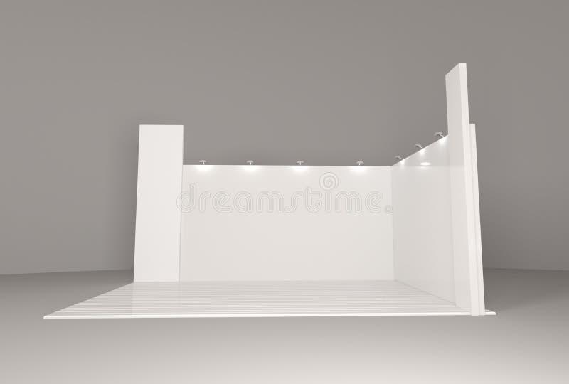 Calibre vide vide de maquette de cabine de support pour votre conception photo stock