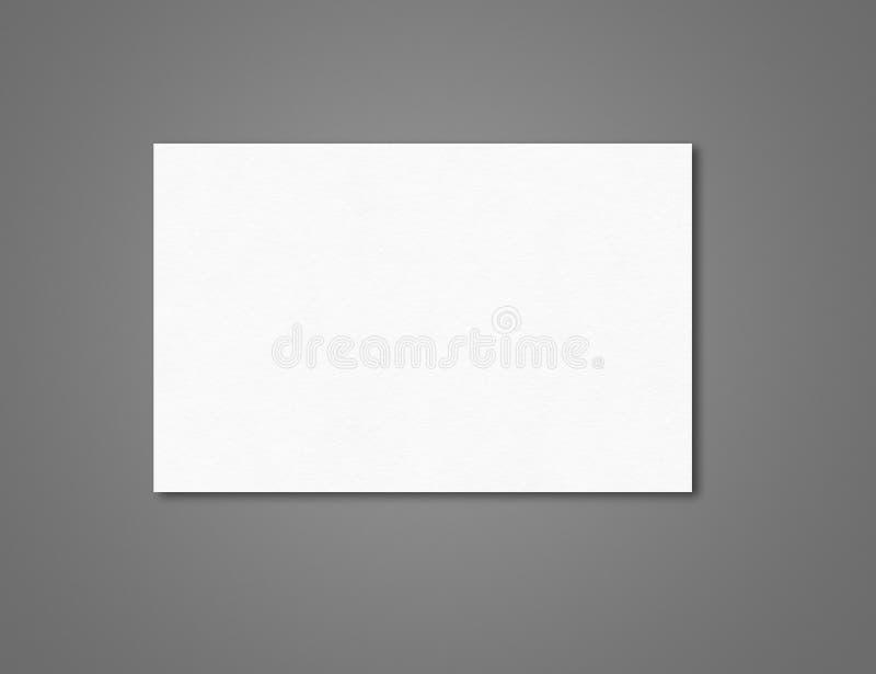 Calibre vide de maquette de carte de visite professionnelle de visite images libres de droits