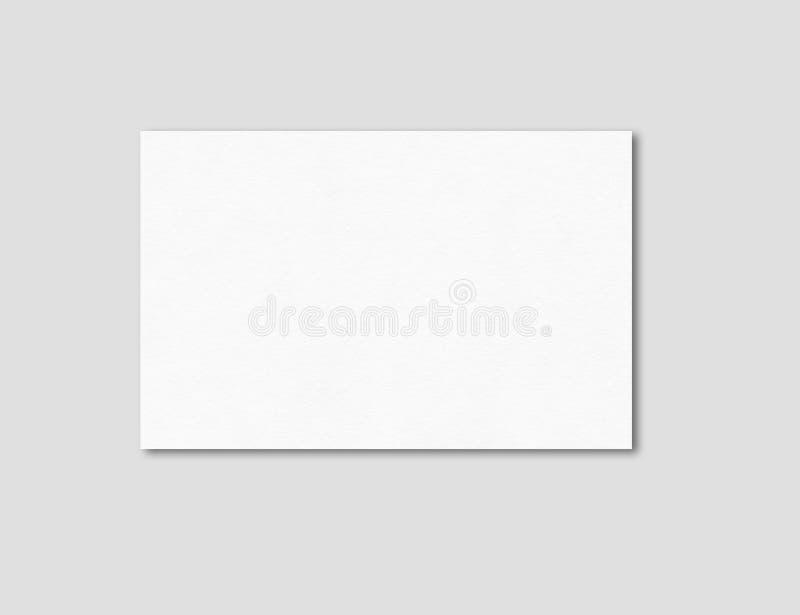 Calibre vide de maquette de carte de visite professionnelle de visite photos stock