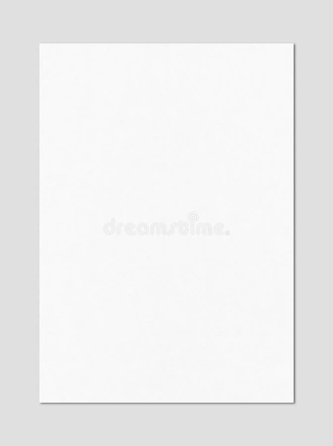 Calibre vide de maquette de feuille de papier du blanc A4 image stock