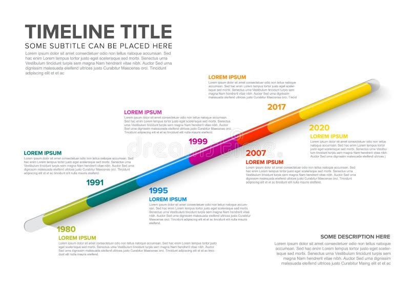Calibre vitreux de chronologie d'Infographic illustration stock