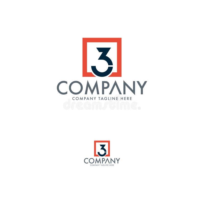 Calibres créatifs de conception de logo de la lettre 3K illustration libre de droits