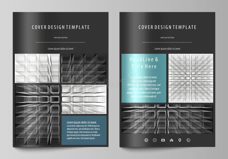 Calibres d'affaires pour la brochure, magazine, insecte Calibre de conception de couverture illustration libre de droits