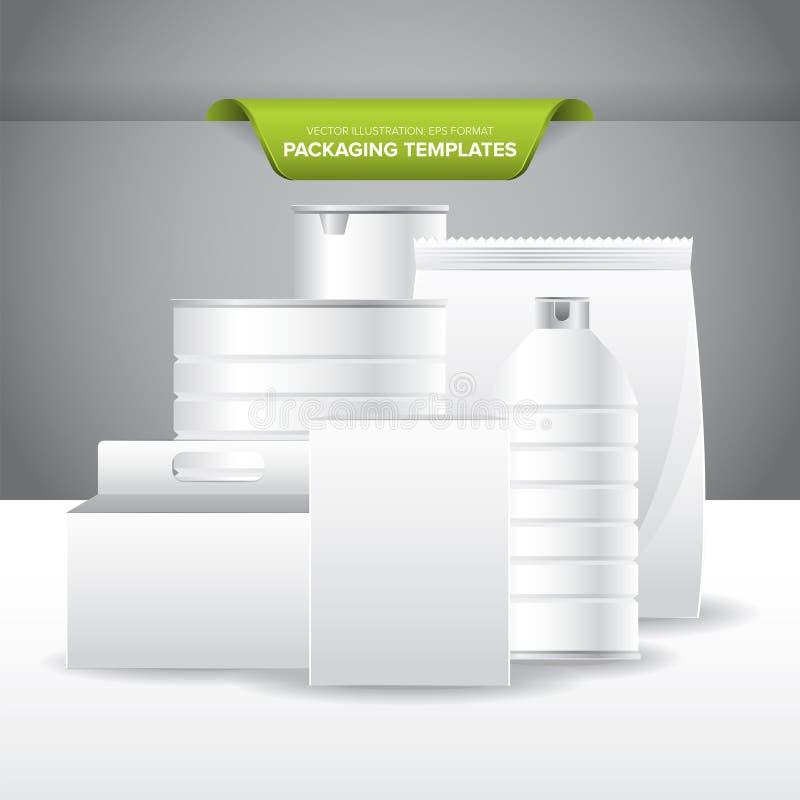 Calibres d'emballage illustration stock