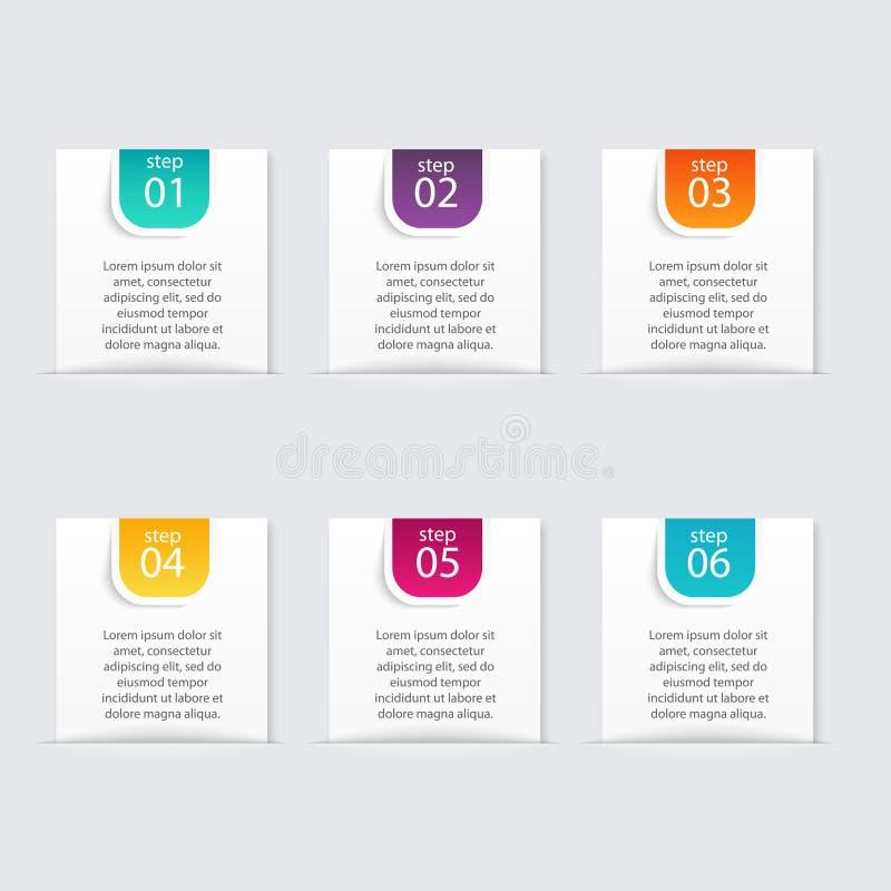 Calibres d'Infographic pour des affaires Vect de statistique d'Infographics illustration stock