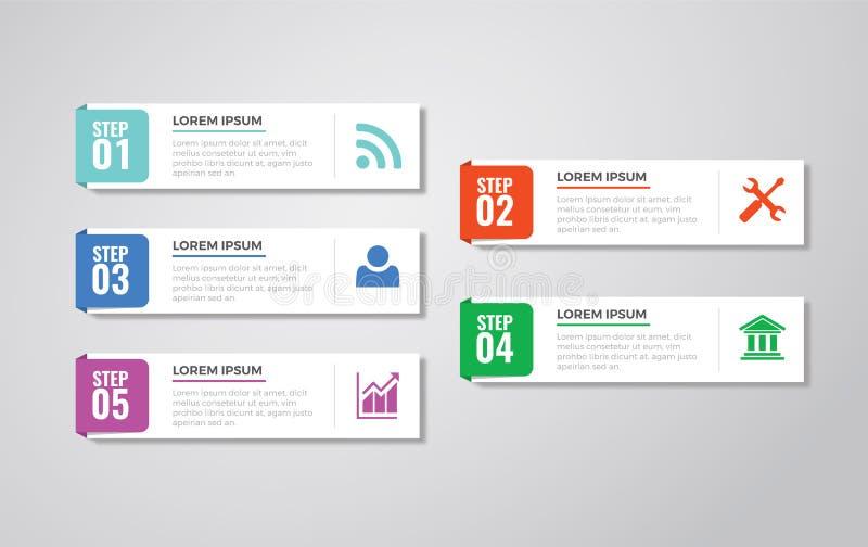 Calibres d'Infographic pour le vecteur d'affaires image stock