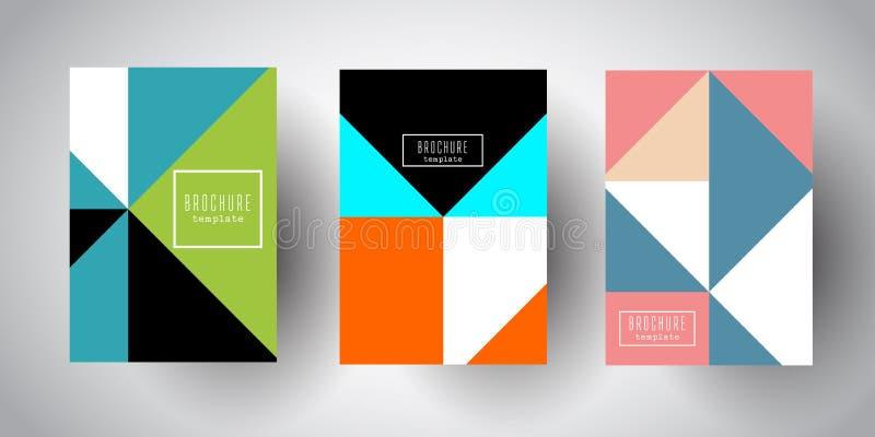Calibres de brochure avec de basses poly conceptions abstraites illustration de vecteur