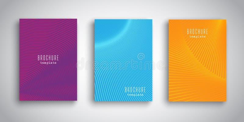 Calibres de brochure avec des conceptions abstraites illustration stock