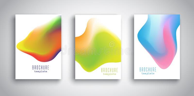 Calibres de brochure avec des conceptions abstraites du fluide 3D illustration stock