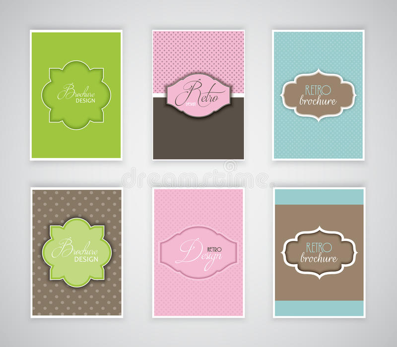 Calibres de brochure ou d'insecte avec la rétro conception illustration libre de droits