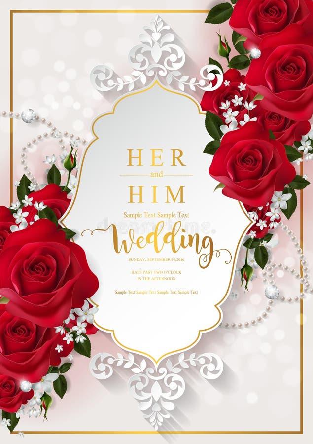 Calibres de carte d'invitation de mariage illustration libre de droits