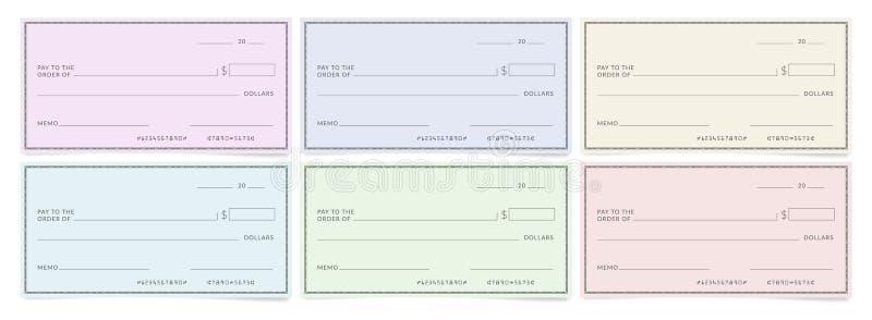 Calibres de chèques de banque illustration libre de droits