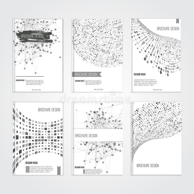 Calibres de conception de couverture de brochure de vecteur avec illustration stock