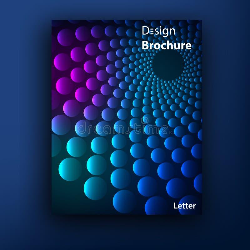 Calibres de conception de couverture de livret de brochure de vecteur illustration stock