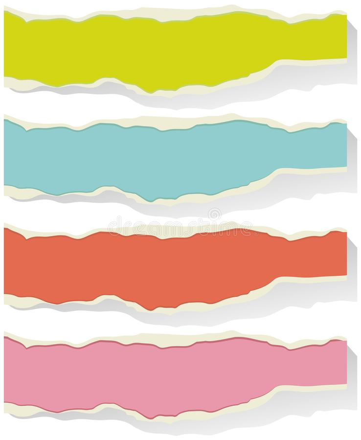 Calibres de label dans quatre couleurs illustration libre de droits