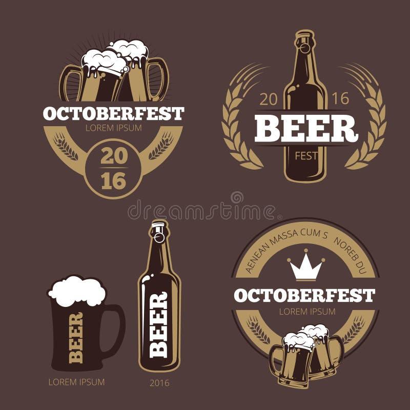 Calibres de label de bière pour la maison de bière, la société de brassage, le bar et la barre illustration libre de droits