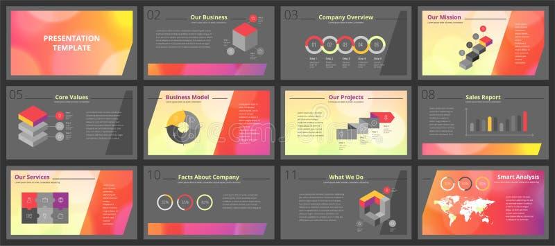 Calibres de présentation d'affaires image stock