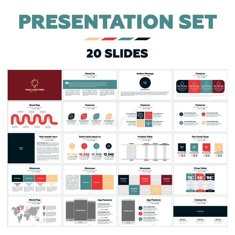 Calibres de présentation - 20 glissières illustration libre de droits
