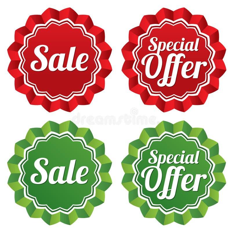 Calibres de prix à payer d'offre spéciale réglés. illustration stock