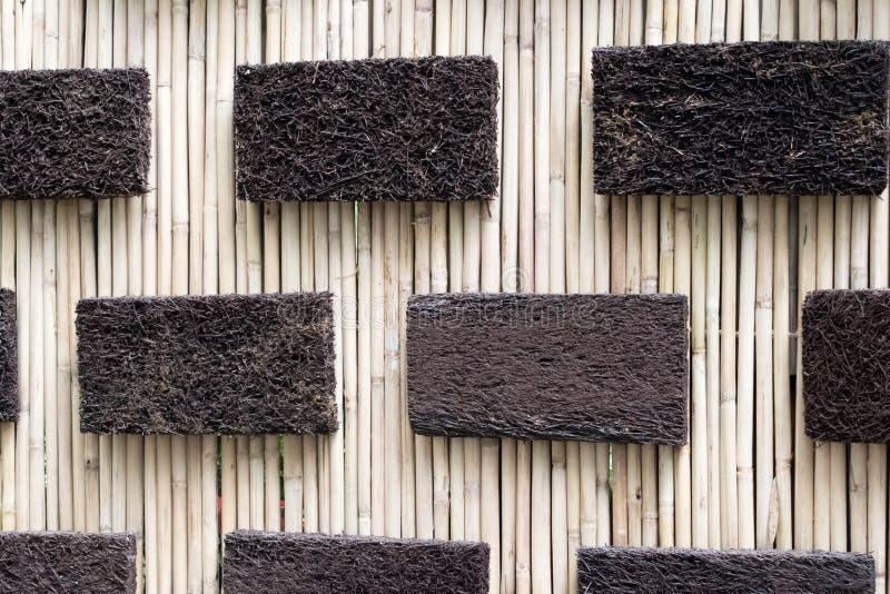 Calibres de rectangle dans un bâton tissé photographie stock