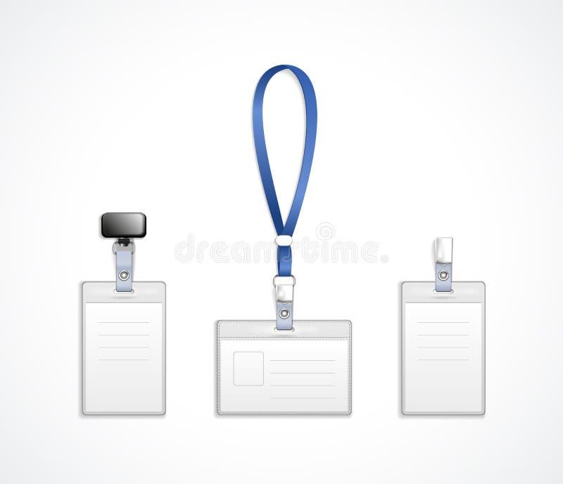 Calibres de vecteur pour l'étiquette de nom avec la lanière illustration libre de droits