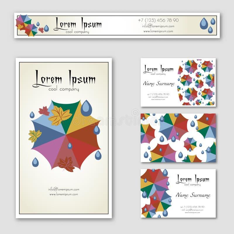 Download Calibres Des Bannières Avec Les Parapluies Colorés Illustration de Vecteur - Illustration du couleur, bleu: 77159727