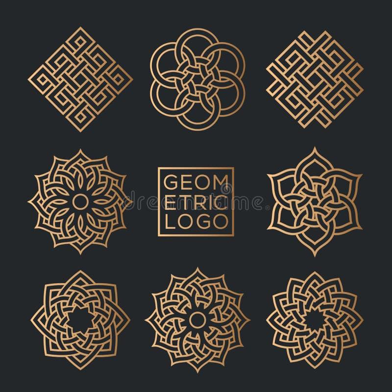Calibres géométriques de conception d'emblème illustration de vecteur